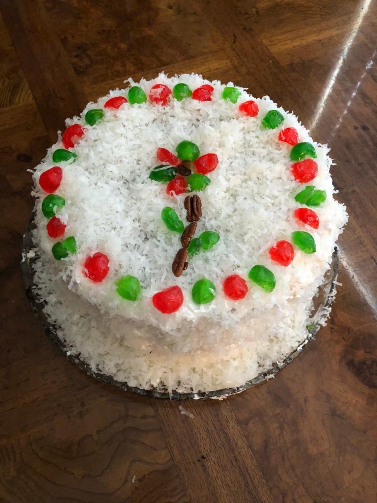 Festive Decorated Japanese Fruit Cake